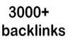create 3000 backlinks and ping your url