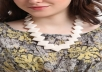 create a white indian necklace