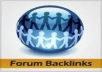 deliver Forum Post Backlinks 500 domain