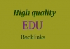 create 200 Edu Backlinks and 1000 PR8 to PR2  Wiki Backlinks from Highly Authorative Domains.