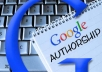 setup Google authorship on your WP site.