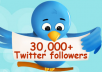 get you top quality 30,000+ real looking, active twitter followers (readers, viewers, fans, subscribers, followerz, readerz, viewerz, fanz, subscriberz) in less than 2 days without admin access