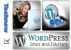 fix Your WordPress Error, Problem and other Issues
