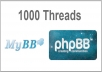 Generate 1K Threads into one forum in your mybb or phpbb community