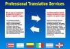 Translate any kind of document from English to Spanish or Spanish to English