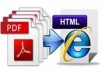 convert your PDF or WORD or TEXT file into HTML