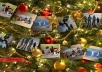 create a Christmas Tree Garland Made Out of Your Photos