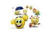 provide you with 3D, Great, high quality, professional smileys for your business website.