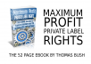 give you my 52 page eBook on MAKING MONEY ONLINE with PLR maximum profits
