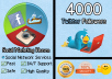 will deliver 4000 twitter followers to your profile in LESS than 24 hours