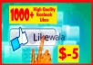 add 1000+ High Quality Facebook Fanpage Likes/PHOTO Likes/Status/Follower