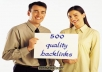 Provide A Proffessional 500 Permanent BACKLINKS To Your Website Repeatedly Till You Apear On First page Of google