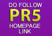 give you a PR5 Finance / Pay Day Loan DoFollow Homepage Link