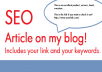 write an article on my blog with your link, keywords