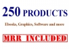 give You 250 Quality MRR Products Complete With Salespages Included