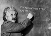 place your message written on the board by Einstein