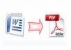 convert your word, text, image to pdf format
