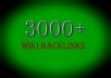 create 3000+ Wikibacklinks from 600+ unique domains