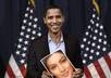 design a cute picture of you in the hands of barrack Obama