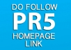post your article on the HomePage of my PR5 Automotive / Car Site