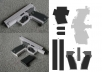 What this basically is, is paper templates that you cut out. Follow the instructions included in the templates to glue and cut accordingly to make extremely realistic full size 3D models of 16 different guns.   (Models include AK-47, Desert Eagle, and many other favorites)  The templates are Instant Download Delivery meaning you get them as soon as you pay.  *These templates are printed out on paper and so the models cannot harm or shoot in any way, they are simply MODELS that LOOK real.*