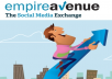 use Empire Avenue to drive traffic to a website or video