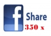 share any of your Facebook post, 350 reshare