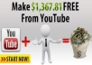tell you a secret on how to make $2000 - $3000 monthy from YOUTUBE partnerships