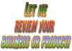 write a custom review of your business or product