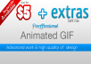 create to you a proffessional Gif animation