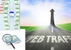 send unlimited Traffics by Google✺Facebook✺Twitter✺Youtube✺Pinterest traffics to your web/blog for 1 month.