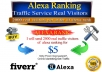 send 2,000 real visitors traffic of alexa rank