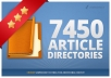 spin and submit your article to 7450 Directories, Get 500+ Google Backlinks