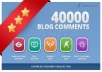 make 40,000 blog comment backlinks scrapebox linkjuice