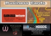 create custom 3 professional business cards for your business just
