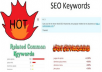 generate 20 keywords for you to use in your meta tags or SEO for your website