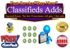 add classified ad submission to 10 High PR classifieds sites, manually