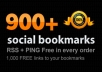 Submit your link to 900+ different social bookmarking sites+Free Ping