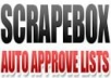 give you 206,114 Fresh Scrapebox Auto Approve List