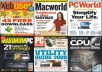 A pack of magazines such as PC Advisor, PC Pro, PC World and many others.