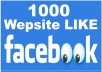 give you 1000+ Facebook Websites Likes [No Fan Page]