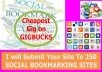 Build 250 Social Bookmarks For Your Site/url