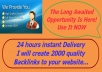 deliver Your Website 5 Pr 7 BACKLINKS And Get Instant Result