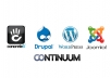 install Wordpress or pictured CMS on Web Host