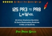 create 125+ PR3 to PR8 seo LINKWHEEL of backlinks
