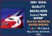 give you my brand new list of more than 300 high   quality links targeting the keyword Bass Guitar