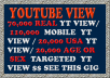 Give you Cheapest 70,000 REAL YT View/110,000 Mobile YT View/ 16,000 to 20,000 USA Youtube View /20,000 real AGE or SEX targeted view