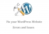 fix your WordPress Website errors and issues