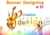 design unique, professional and attractive header for your website or business