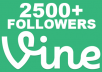 get you high quality 2500+ real looking vine followers in less than 24 hours without the need of your password